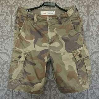 正品American Eagle/AE迷彩刷舊口袋造型休閒短褲