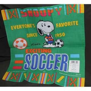 Hallmark ~ Snoopy & Woodstock 足球款手帕