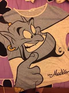 🚚 Disney Aladdin 迪士尼阿拉丁神燈精靈上衣