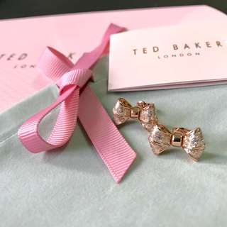 (NEW) Ted Baker Glittering Bow Stud Earrings