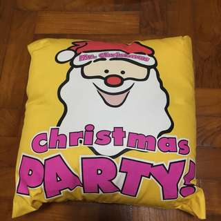 Merry Christmas Santa Cushion - Yellow