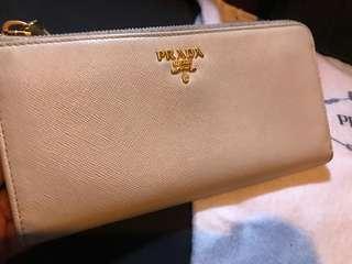 Prada long wallet (off-white colour)