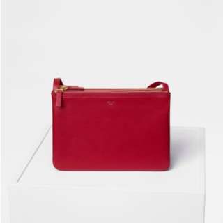 Celine Trio bag in red big size