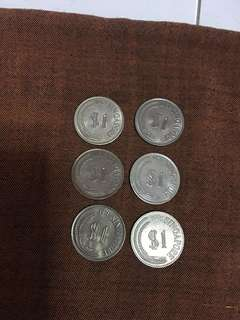 Lion  Coin x 6pcs