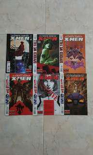 """Ultimate Comics: X-Men (Marvel Comics 6 Issues, #13 to 18, complete story arc on """"Divided We Fall, United We Stand"""")"""