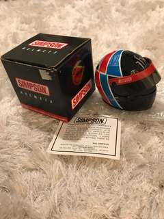 Diecast Simpson Helmet Arie Luyendyk Signature
