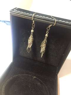 葉純銀耳環 leaf Silver earrings