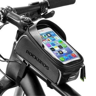ROCKBROS MTB Road Bike Bicycle Bag,Waterproof Touch Screen Cycling Top Front Tube Frame Bag