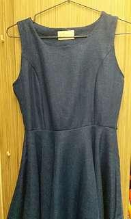 寶藍色背心款連身裙