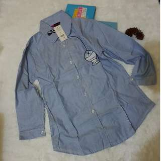 Fish gingham shirt
