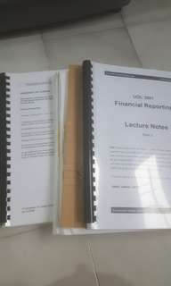 Financial Reporting Notes for SIM UOL students