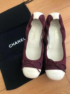 REAL 只著一次 有盒有塵袋 Chanel RARE Ballerina 平底鞋 flats 36.5 半寸