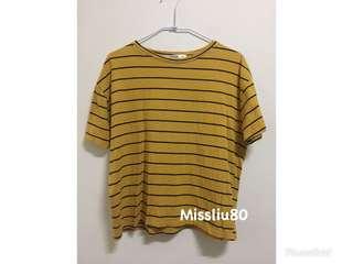 🚚 黃色條紋上衣