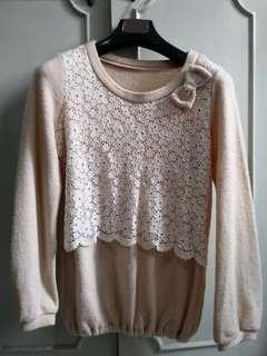 Nude cream sweater