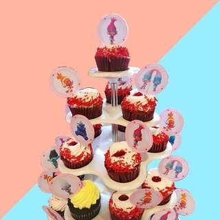 Trolls Cupcake Topper