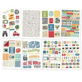 Simple Stories - Travel Notes Stickers
