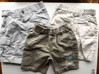 PRELOVED Assorted Bundle Set of 3 Short Pants - in very good condition