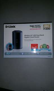 Used working D-Link Wireless AC1200 Dual Band Gigabit Cloud Router dlink