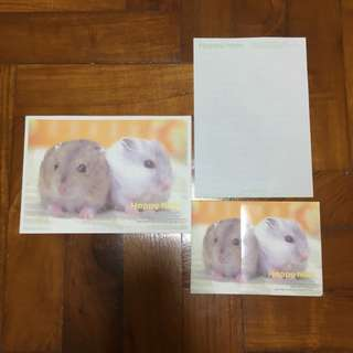 Cute Hamster Letter Pad/paper with matching envelopes
