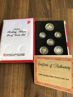 A018 - Singapore 1988 Proof Coin Set