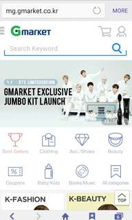 [OPEN HELP SERVICES] GMARKET PREORDER ITEMS