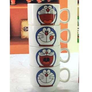 Doraemo style Four Pieces Set Cup with Iron Shelf Hob