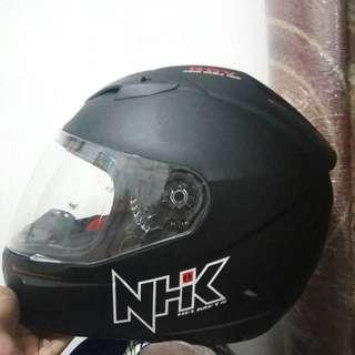 Helm NHK Fullface Hitam #kanopixcarousell