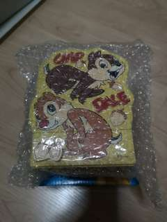 Small wooden drawer-- Disney chip & Dale design