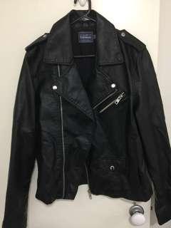 TOPMAN Faux leather biker styled Jacket size L