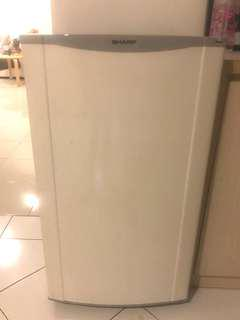 White one door refrigerator
