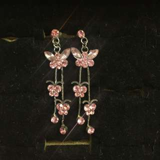 蝴蝶耳環 butterfly earrings