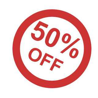 50% OFF SALE SHOP NOW!