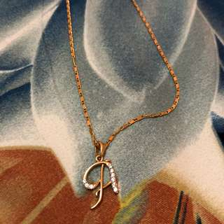 Initial Letter Necklace A