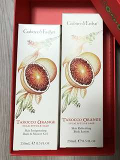 Tarocco Orange Shower Gel 250ml + Body Lotion 250ml