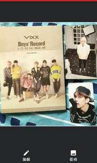 VIXX mini album boy's record+爀小卡+鴻賓大卡+poster