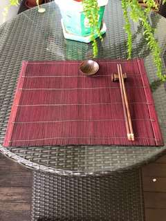 Bamboo Placemat setting for 6 pax (24 pieces)