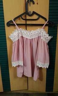 Blouse pink atasan baru sekali pakai