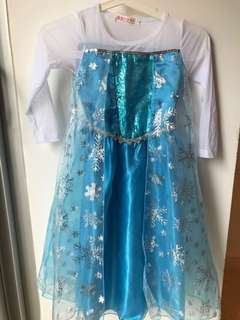 Frozen dress with a crown for 5-6 years old girl