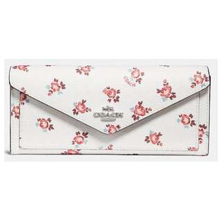 Coach Flower Series long Wallet