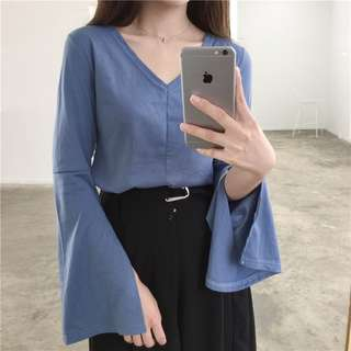 [PO] Trumpet Sleeves Top