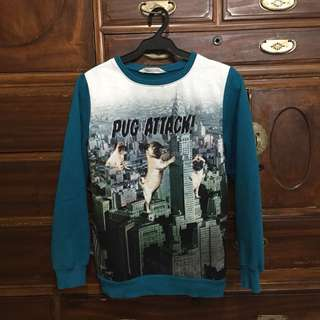 "H&M ""Pug Attack"" Sweater"