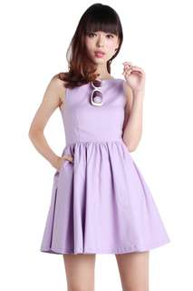 🚚 TTR Tara Boat Neck Dress, Lilac M