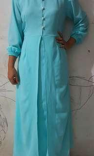 Long Dress Biru Tosca