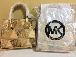 cfe00ea79719 Michael Kors Mercer Gold Patchwork Leather Crossbody