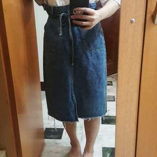 🚚 Ching'S開衩牛仔裙