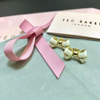 (NEW) Ted Baker Bow Stud Gold Earrings