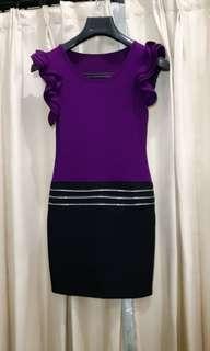 Dress purple rimple