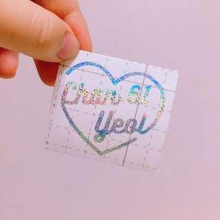 Preorder Exo hologram sticker