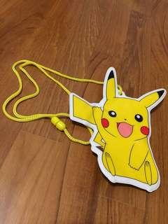 Official 2007 Pokemon x Japan Railway Collaboration Pikachu Lanyard Card Holder