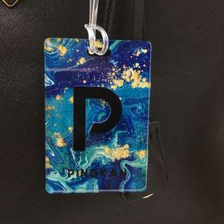 custom bag tag - blue marine